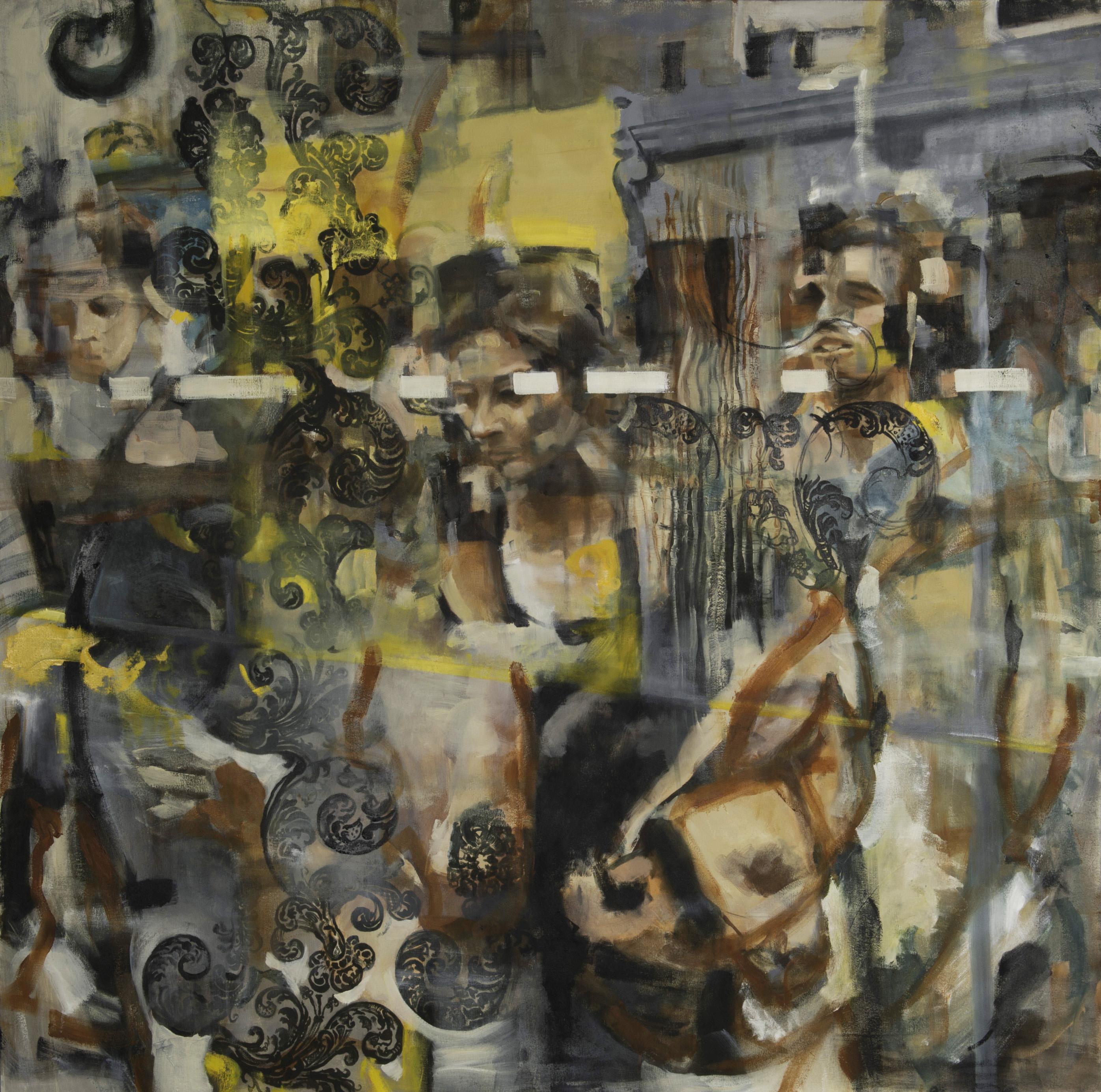 "Collocations #1, oil on canvas, 60"" x 60"", 2016"